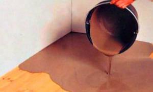 Как сделать бетонный пол в деревянном доме