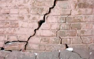 Лопнула стена дома что делать