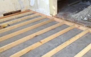 Как прикрепить лаги к бетонному полу