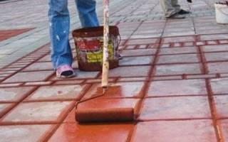 Чем покрасить бетонный пол на улице