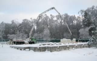 Температура бетона при укладке в зимнее время