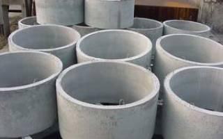 Кольца канализационные бетонные размеры