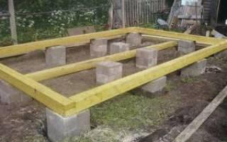 Опорно столбчатый фундамент из бетонных блоков отзывы