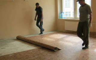 Как наклеить линолеум на бетонный пол