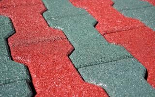 Тротуарная плитка из резины