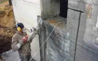 Пробивка проемов в конструкциях из бетона