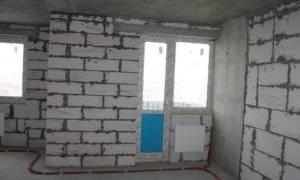 Отделка стен из пеноблоков внутри