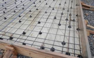Схема вязки арматуры для плитного фундамента