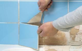 Как удалить старый раствор с кафельной плитки