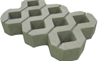 Газонная плитка для парковки бетонная